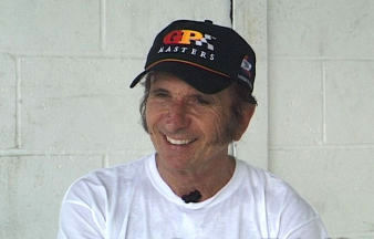 Picture: Emerson Fittipaldi being interviewed for 'Grand Prix Icon : Lotus 72'
