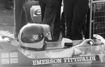 Picture: Emerson Fittipaldi in a Lotus '72