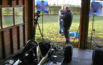 Picture: Filming for 'Grand Prix Icon : Lotus 72'